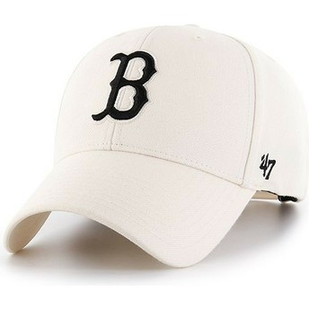 47 Brand Curved Brim Boston Red Sox MLB MVP Snapback Cream Cap