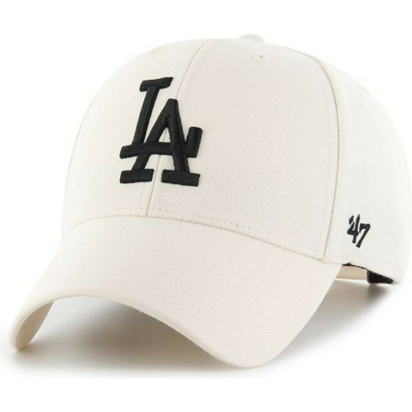 47-brand-curved-brim-los-angeles-dodgers-mlb-mvp-snapback-cream-cap