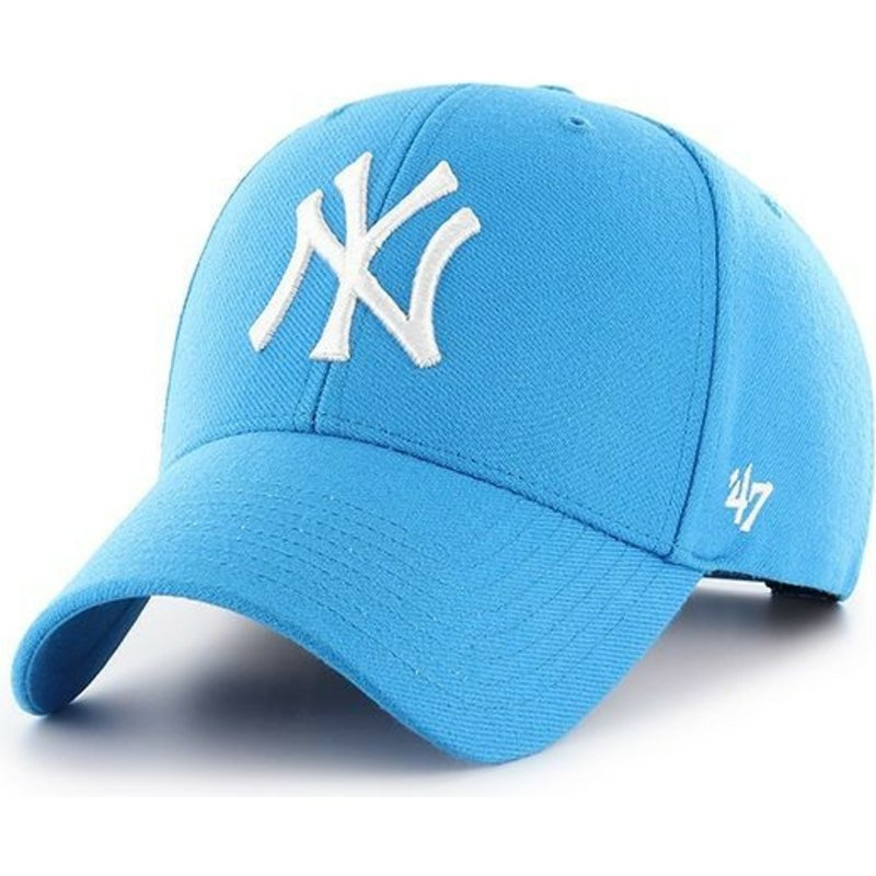 47-brand-curved-brim-new-york-yankees-mlb-mvp-glacier-blue-snapback-cap