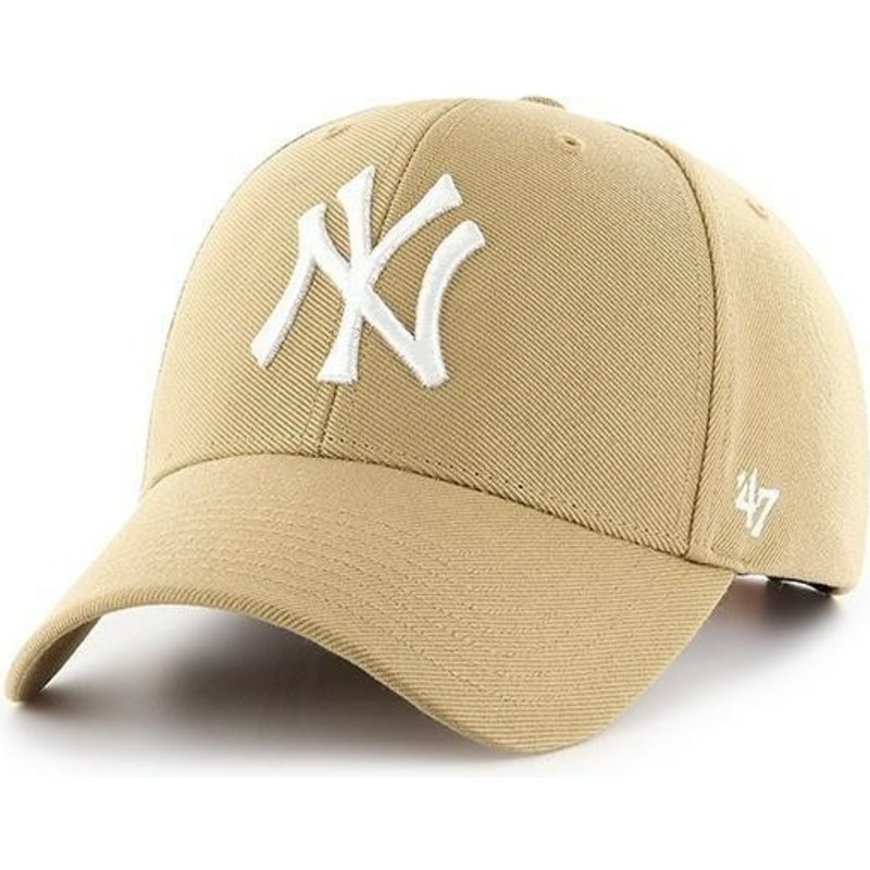 47-brand-curved-brim-new-york-yankees-mlb-mvp-old-gold-yellow-snapback-cap