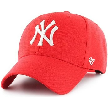 47 Brand Curved Brim New York Yankees MLB MVP Red Snapback Cap