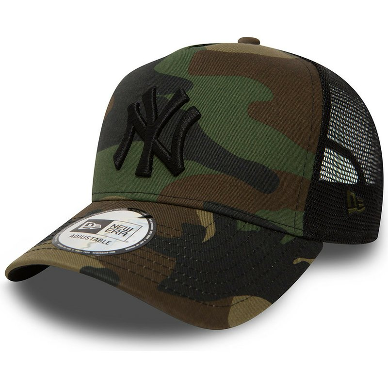 New Era New York Yankees MLB Clean A Frame Camouflage Trucker Hat ... 984b9fa82a2
