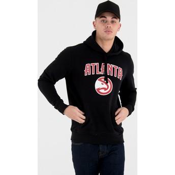 Sudadera con capucha negra Pullover Hoody de Atlanta Hawks NBA de New Era