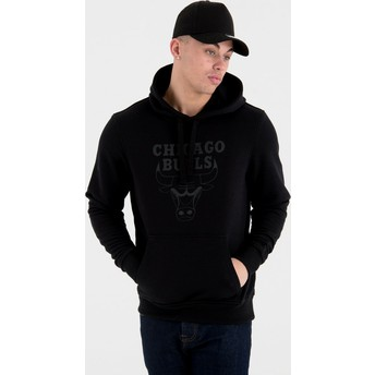 New Era Chicago Bulls NBA Black Pullover Hoody Sweatshirt