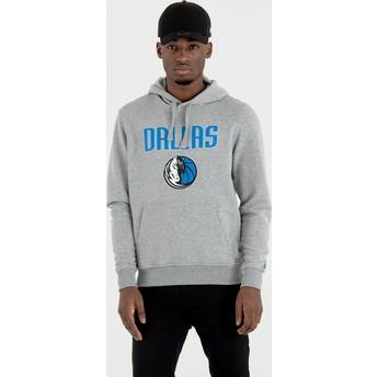 New Era Dallas Mavericks NBA Grey Pullover Hoody Sweatshirt