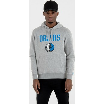Sudadera con capucha gris Pullover Hoody de Dallas Mavericks NBA de New Era