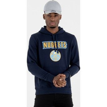 New Era Denver Nuggets NBA Navy Blue Pullover Hoody Sweatshirt