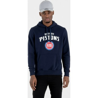 Sudadera con capucha azul marino Pullover Hoody de Detroit Pistons NBA de New Era