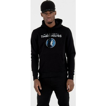 New Era Minnesota Timberwolves NBA Black Pullover Hoody Sweatshirt