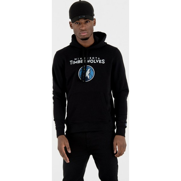 new-era-minnesota-timberwolves-nba-black-pullover-hoody-sweatshirt