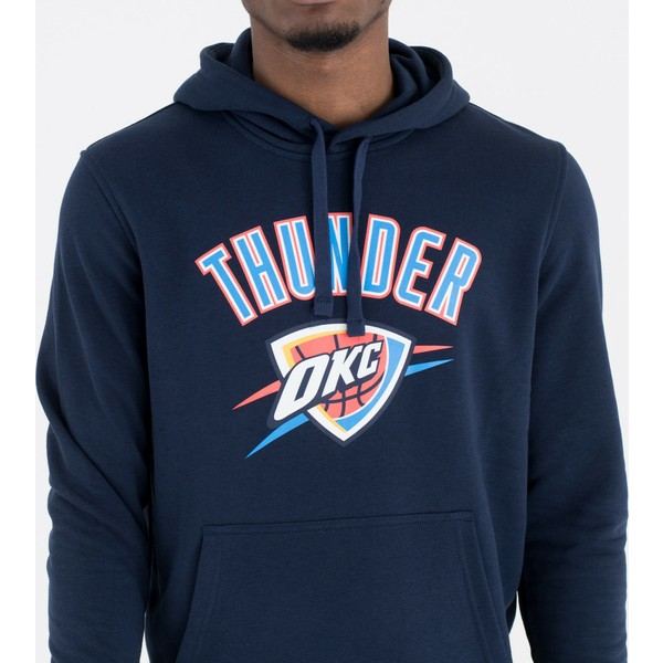 best website 19f69 debd7 New Era Oklahoma City Thunder NBA Navy Blue Pullover Hoody Sweatshirt