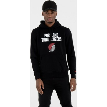 Sudadera con capucha negra Pullover Hoody de Portland Trail Blazers NBA de New Era