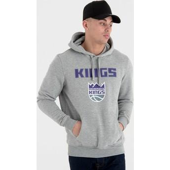 Sudadera con capucha gris Pullover Hoody de Sacramento Kings NBA de New Era
