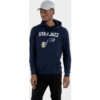 New Era Utah Jazz NBA Navy Blue Pullover Hoody Sweatshirt