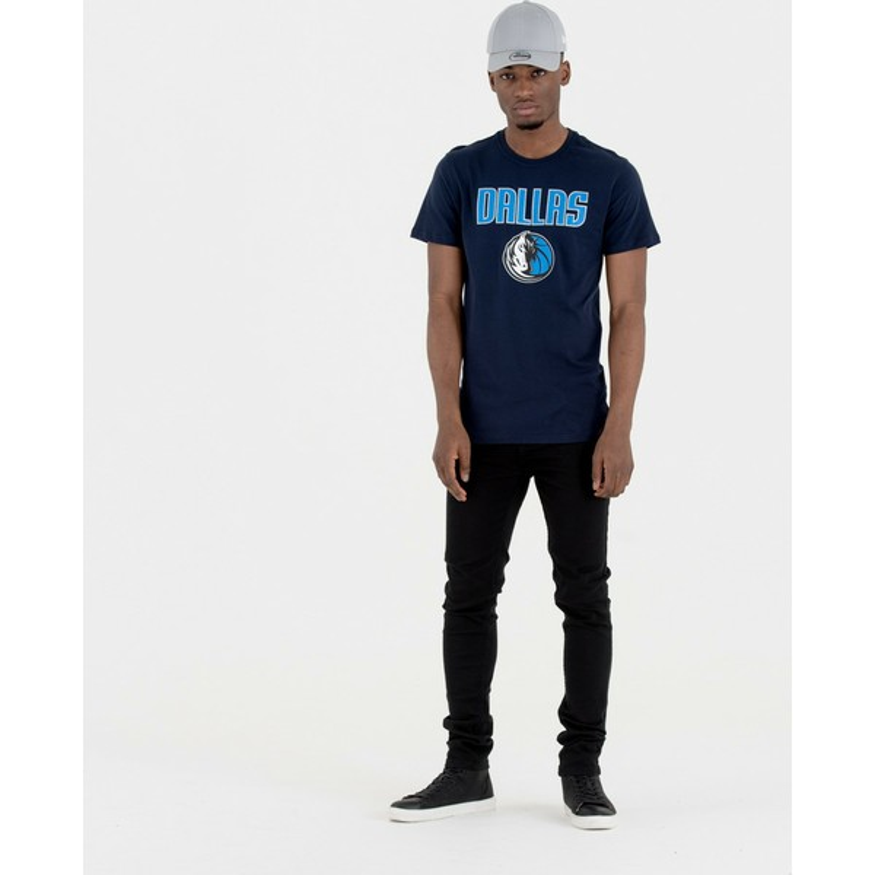 New Era Dallas Mavericks NBA Navy Blue T-Shirt  Shop Online at ... ddabb95d771d7