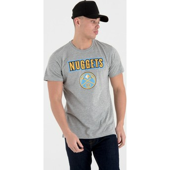 New Era Denver Nuggets NBA Grey T-Shirt