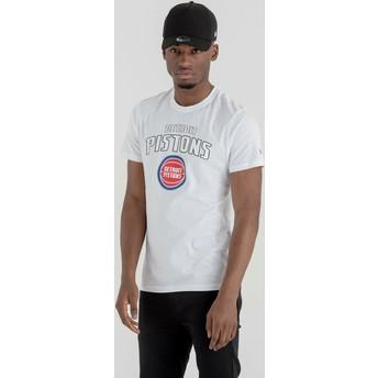 Camiseta de manga corta blanca de Detroit Pistons NBA de New Era