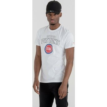 New Era Detroit Pistons NBA White T-Shirt