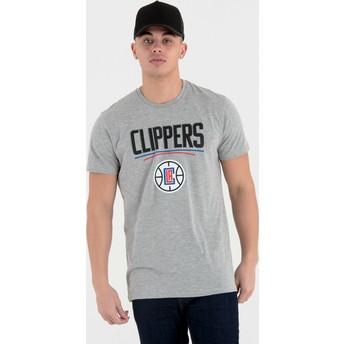 Camiseta de manga corta gris de Los Angeles Clippers NBA de New Era