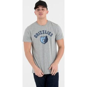 Camiseta de manga corta gris de Memphis Grizzlies NBA de New Era