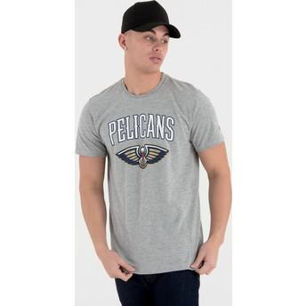 Camiseta de manga corta gris de New Orleans Pelicans NBA de New Era