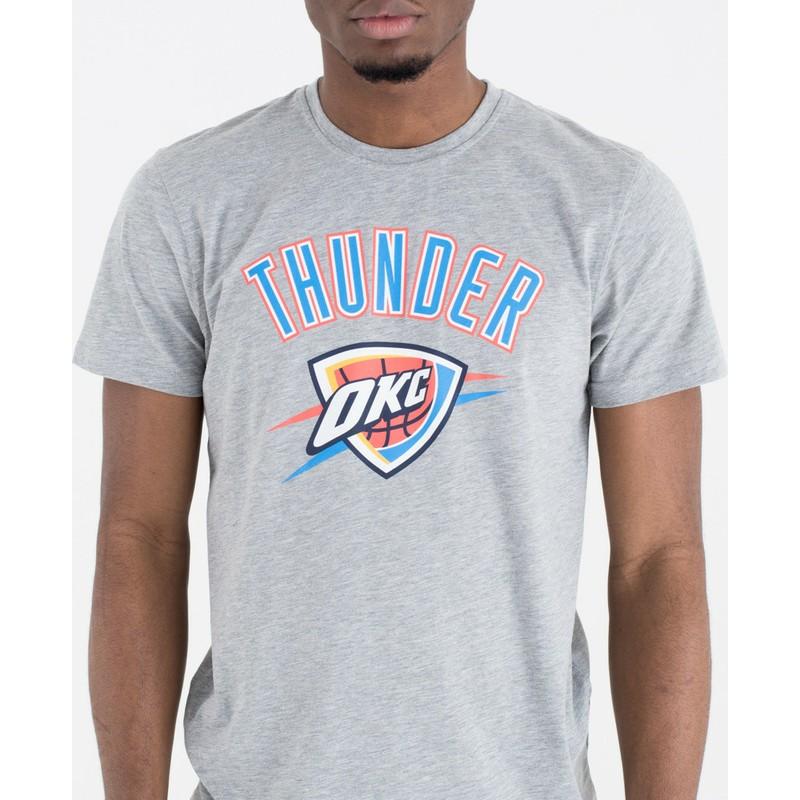 best website 01b0b 8d8f4 New Era Oklahoma City Thunder NBA Grey T-Shirt
