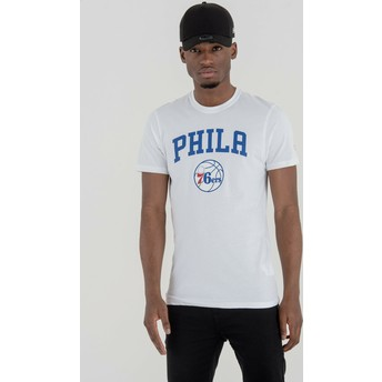 New Era Philadelphia 76ers NBA White T-Shirt