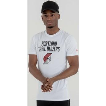 Camiseta de manga corta blanca de Portland Trail Blazers NBA de New Era