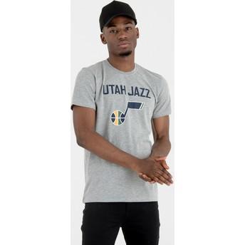 Camiseta de manga corta gris de Utah Jazz NBA de New Era