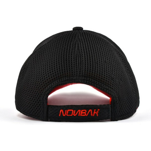 nonbak-curved-brim-mesh-racer-life-black-adjustable-cap