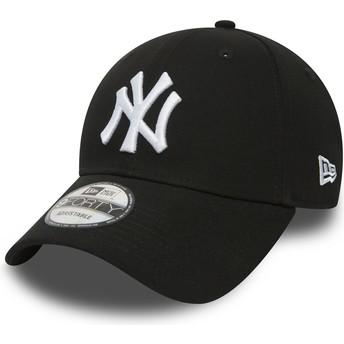 Gorra curva negra ajustable 9FORTY Essential de New York Yankees MLB de New Era