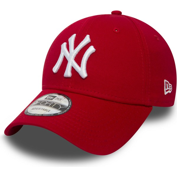 new-era-curved-brim-9forty-essential-new-york-yankees-mlb-red-adjustable-cap