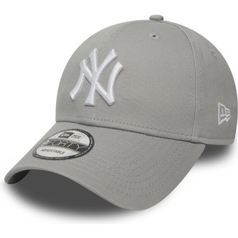 New Era Curved Brim 9FORTY Essential New York Yankees MLB Grey Adjustable Cap