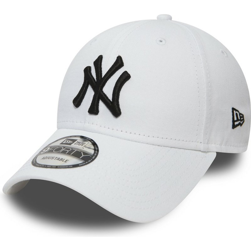 dd46ae1b6ab835 New Era Curved Brim 9FORTY Essential New York Yankees MLB White ...