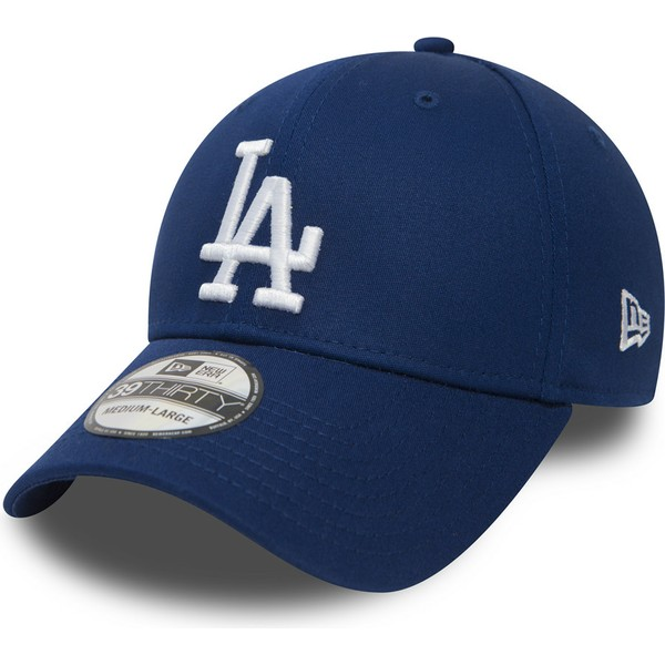 new-era-curved-brim-39thirty-essential-los-angeles-dodgers-mlb-blue-fitted-cap