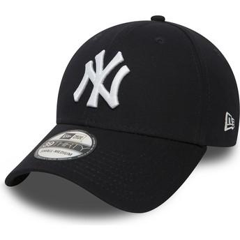 Gorra curva azul marino ajustada 39THIRTY Classic de New York Yankees MLB de New Era