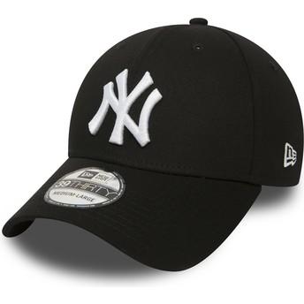 Gorra curva negra ajustada 39THIRTY Classic de New York Yankees MLB de New Era