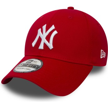 New Era Curved Brim 39THIRTY Classic New York Yankees MLB Red Fitted Cap
