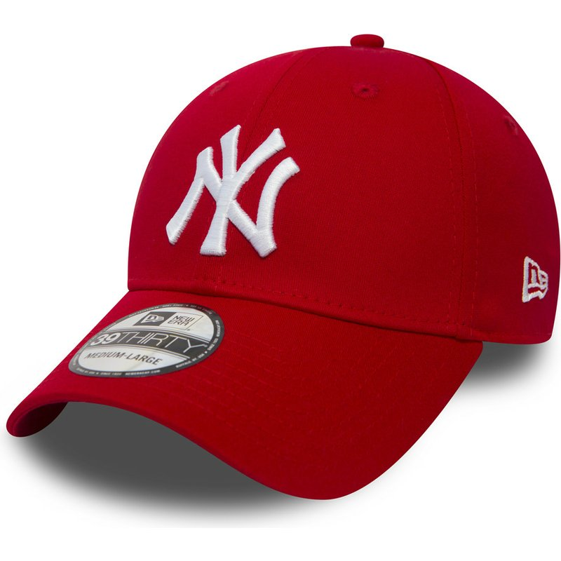 new-era-curved-brim-39thirty-classic-new-york-yankees-mlb-red-fitted-cap