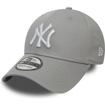 Gorra curva gris ajustada 39THIRTY Classic de New York Yankees MLB de New Era