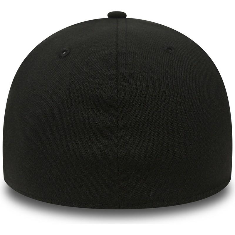 New Era Curved Brim 39THIRTY Basic Flag Black Fitted Cap  Shop ... 5dbfd73209f