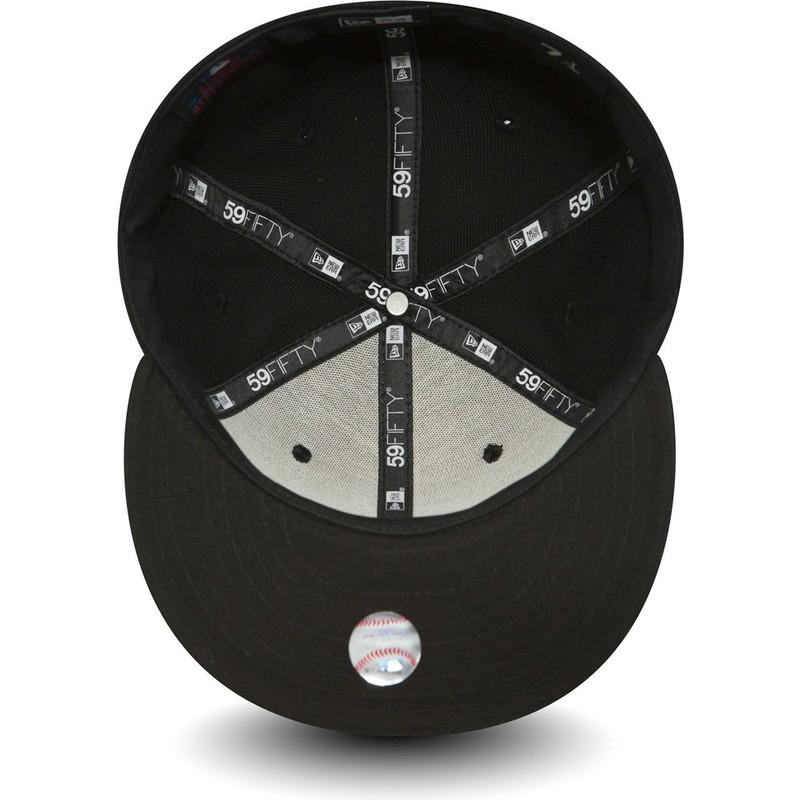 7f99e30341dff5 New Era Flat Brim 59FIFTY Essential Los Angeles Dodgers MLB Black ...