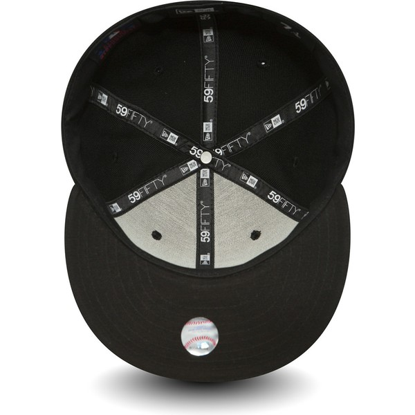 new-era-flat-brim-59fifty-essential-los-angeles-dodgers-mlb-black-fitted-cap