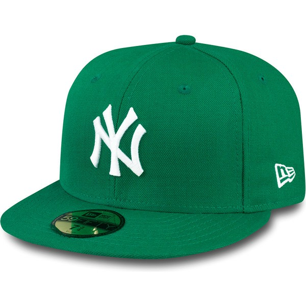 b7646815d2ecb New Era Flat Brim 59FIFTY Essential New York Yankees MLB Green ...