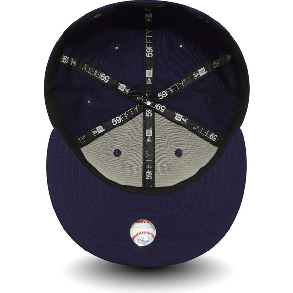 new-era-flat-brim-59fifty-essential-new-york-yankees-mlb-purple-fitted-cap