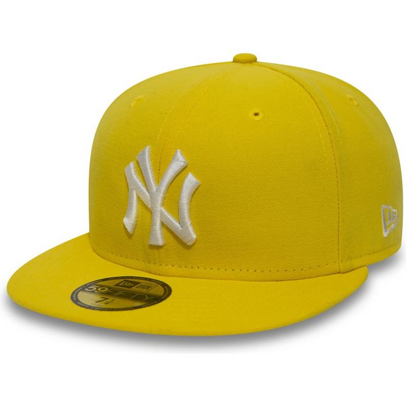 New Era Flat Brim 59fifty Essential New York Yankees Mlb