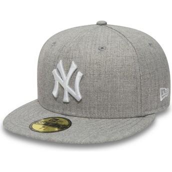 Gorra plana gris ajustada 59FIFTY Essential de New York Yankees MLB de New Era
