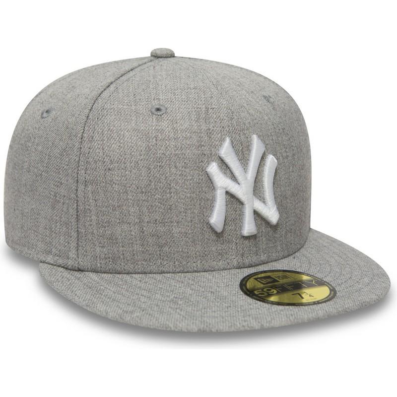 9ae087a038c New Era Flat Brim 59FIFTY Essential New York Yankees MLB Grey Fitted ...