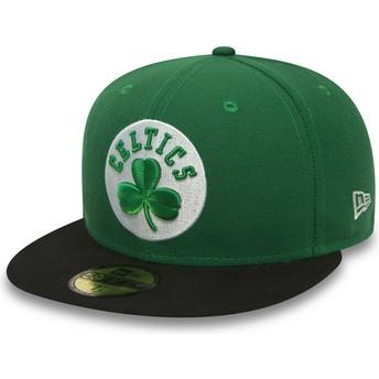 Gorra plana verde ajustada 59FIFTY Essential de Boston Celtics NBA de New Era