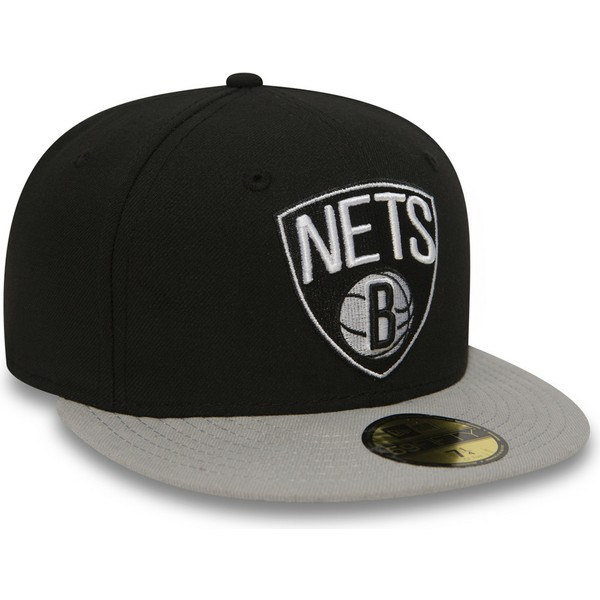 NEW Era 59 Fifty Cap-NBA BLACK Brooklyn Nets